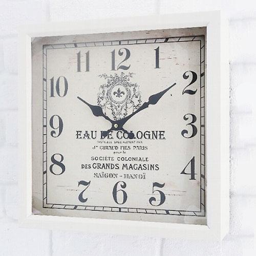 COVENT GARDEN レトロクロック (アンティークホワイト) 掛け時計 スタンド 時計 アンティーク調 壁掛け