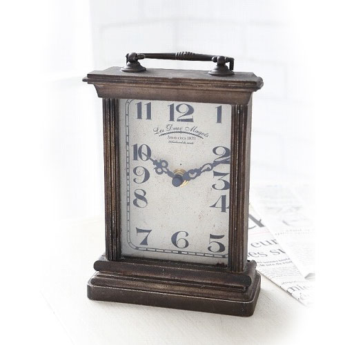 COVENT GARDEN クロック カフェ・ドゥ・マゴ (アンティークブラウン) 置き時計 スタンド時計 時計 アンティーク