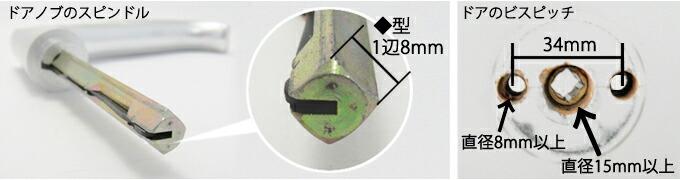 MIWA適合ハンドル形状
