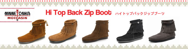 MINNETONKA �ߥͥȥ󥫡� HI TOP BACK ZIP BOOTS �ϥ��ȥåץХå����åץ֡���