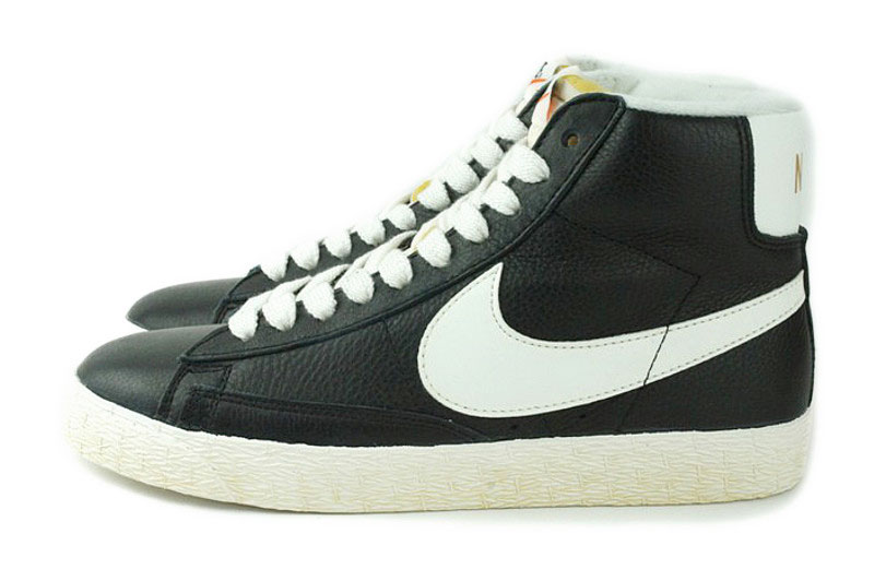 black leather nike blazer