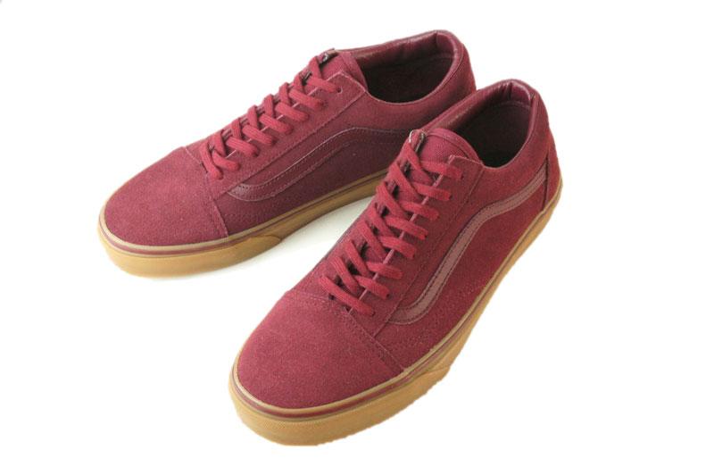 vans old skool gum burgundy