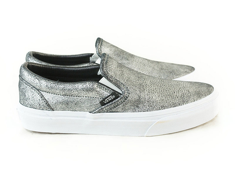 Vans Slip On Metallic Silver