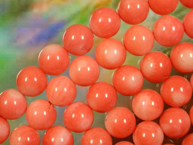サンゴ ピンク色 丸玉7ミリ