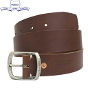 정규 취급점 HERITAGE LEATHER CO. (유산 레더) NO. 7931 1.5 inch Leather Belt (1.5 인치 레더 벨트) Brown HL047fs3gm