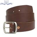 공식 판매점 HERITAGE LEATHER CO. (ヘリテージレザー) NO.7931 1.5 inch Leather Belt (1.5 인치 가죽 벨트) Brown HL047