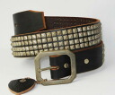 4 postage, collect on delivery fee free regular dealer HTC(Hollywood Trading Company) row Pyramid Silver Studs Belt(4 consecutive pyramid silver studs belt) black fs3gm