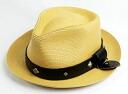 일본 국내 무료 우송 ・ 대금 상환 수수료 무료 정품 취급 HTC (Hollywood Trading Company) #PYRAMID with SEWN BRAID PINCH FEDORA HAT BAMBOO 뱀부