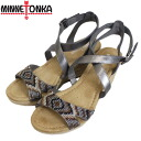 Postage, collect on delivery fee free regular dealer MINNETONKA( Mine Tonka) Emme( Emmie sandals) hook type PEWTER Lady's MT315