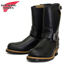 2014 new RED WING (Redwing) 9268 Engineer Boots (loafer) black Klondike tea core.