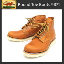 Regular Agency REDWING (Redwing) 9871 6inch CLASSIC ROUND TOE boots Golda set Sequoia dog tags
