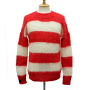 Postage, collect on delivery fee free regular dealer SEDITIONARIES( セディショナリーズ) Mohair Jumper( mohair jacket mohair sweater) red x white STM016fs3gm