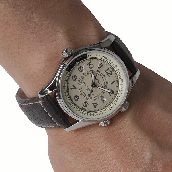 Market utc watch beige dial h77525553 khaki in hamilton hamilton