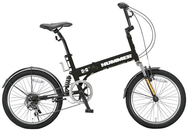 【完全整備済】2015HUMMER FDB206Wsus ハマー 20インチ折り畳み自転車(20インチ/6段変速付)【迫力の20型折りたたみ自転車!】 【組立整備済】