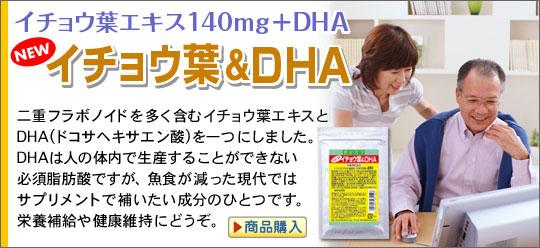 頭脳イキイキ超強力コンビの合体 イチョウ葉&DHA