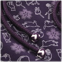 Then it is ♪ pure silk fabrics obi cord obi bustle set - cat purple 079