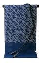 If! 絽chirimenn silk sash tender set-Navy Blue 107
