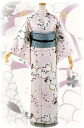 "Kimono tailoring up washable Komon lined """" off-white - free size"
