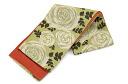 Washable belt reversible Obi rose and yellowish green × hemp and orange
