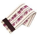 Purple belt reversible Obi washable cherry tree