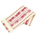 Belt reversible Obi washable cherry red