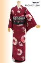 "Kimono tailoring up washable East レシルジェリー Komon lined ""bouquet"" Red"
