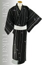 "Three points of fancy weaving man yukata set ""bats"" black"