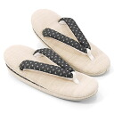 "Summer sandals flax ""ten cloth with splashed pattern"" black adjustable size"