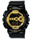 "CASIO g-shock GD-100GB-1JF ""Black×Gold Series"""