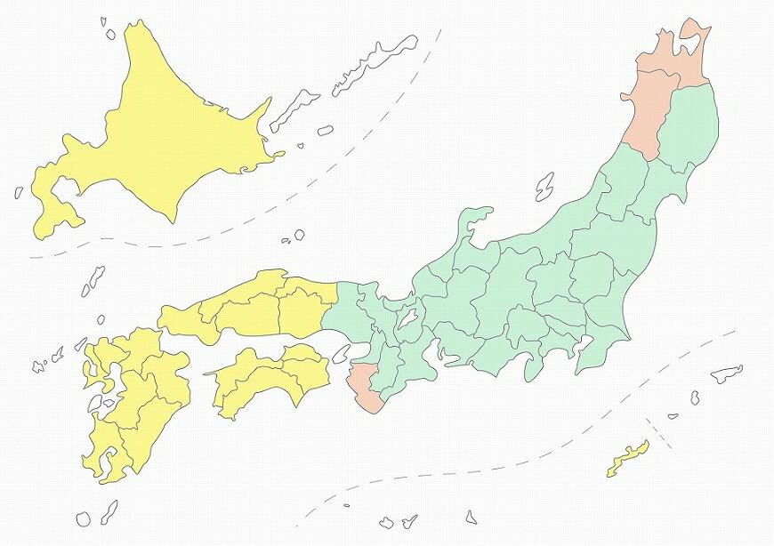 お食い初め料理セット エリア地図