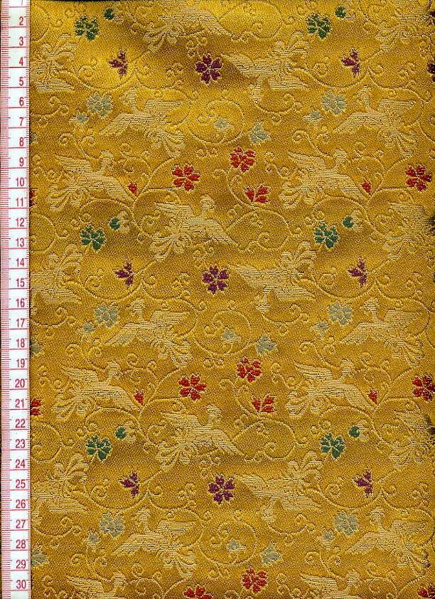 黄色欧式花纹布料贴图