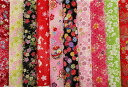 A bargain! Kyoto Yuzen Kim Sai crepe fabrics 10 pieces set (5) / mekari / Japanese fabric and Japanese pattern fabric / Japanese pattern / Japanese / 05P30Nov14