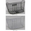 Basket wire mesh basket D-51WM GR-01, dark gray 02P31Aug14 where sen tongue industry bicycle use super ... is wide