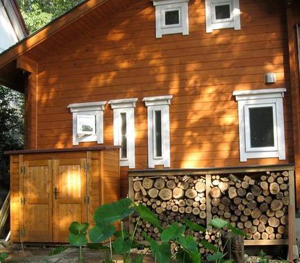 木棚速写风景图片