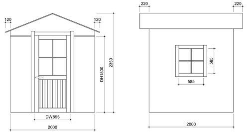 室外木棚结构图