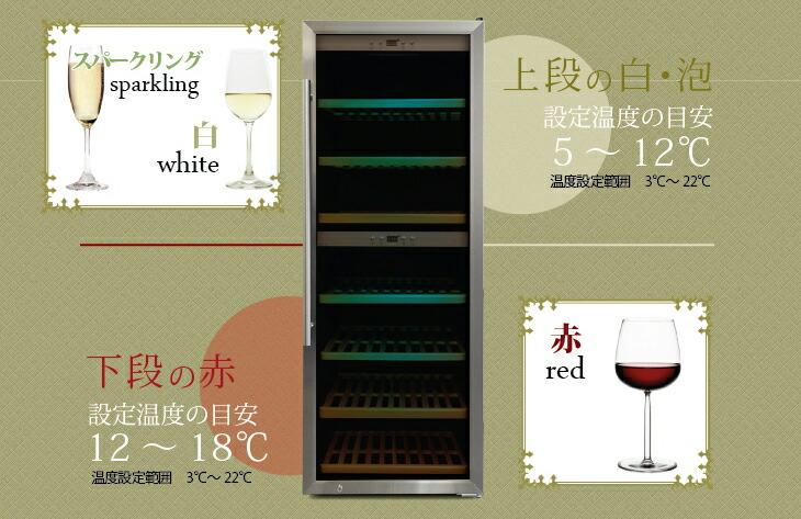120-140本収納可能な小型ワインセラー