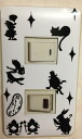 Sticker Wonderland Alice switch plate seal two hole WH
