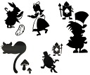 Sticker Alice in Wonderland character New Special Big