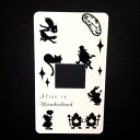 One sticker Alice in Wonderland switchplate seal hole WH