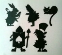 Small sticker Wonderland Alice characters