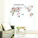 Wall sticker world map world map