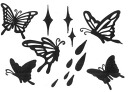 I love a transcription type butterfly butterfly! A glitter is with it