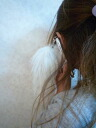 Eryming earphone Jack pierced earrings rial Fox tail fur is short