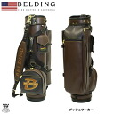 ★ campaigns conducted during ★ Belding BUSHWHACKER black x Caddy bag Brown 9.5 type ( HBCB-95023 )
