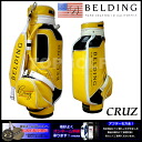 CRUZ yellow X Marlene X white 8.5 type (HBCB-85028) caddie bag