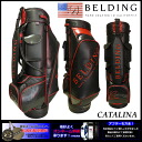 The astringent juice cool design ♪ CATALINA 9.5 type (HBCB-95029) caddie bag which red shines in in black