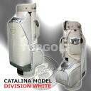 The design CATALINA カタリナディヴィジョン 8.5 type white (CB85022) caddie bag which is individual though it is simple