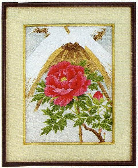 東京文化刺繍キット32「寒ぼたん」(3号)