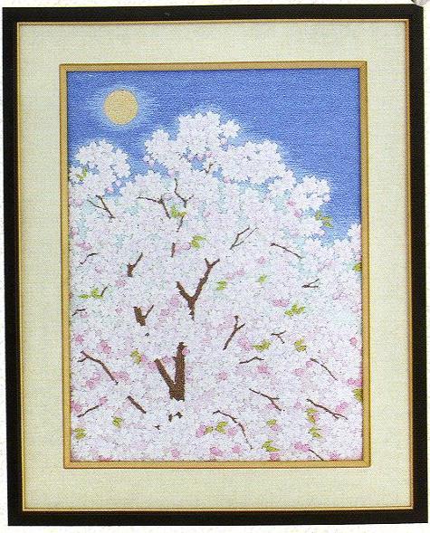 東京文化刺繍キット34「おぼろ月夜」(3号)