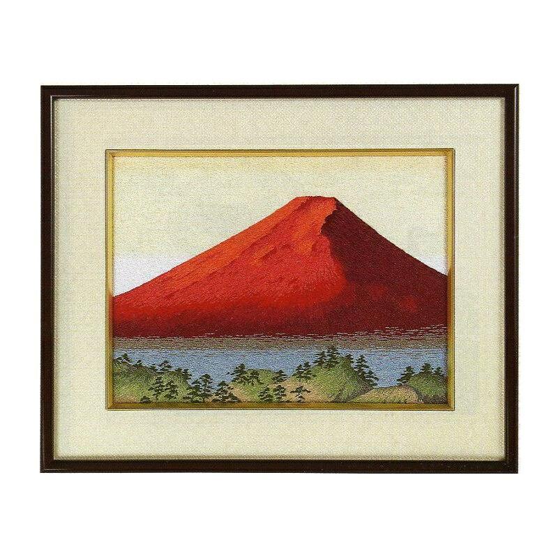 東京文化刺繍キット154「赤富士」(3号)